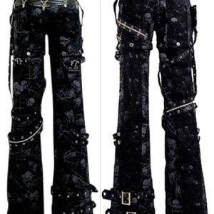 Visual Kei Pants - NWOT Goth Rock Punk Rave Skull Bondage Pants